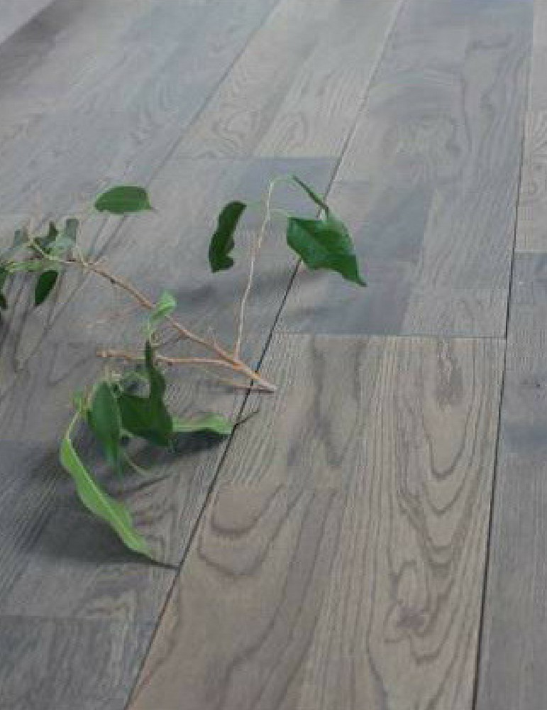 Parquet chêne gris clipsable - 2 frises Vulcano 15 x 150 mm