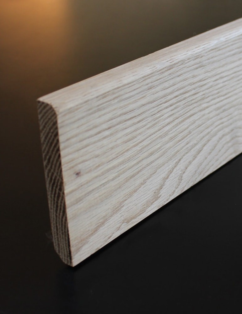Plinthe chene massif - 16 x 98 mm - Arrondie