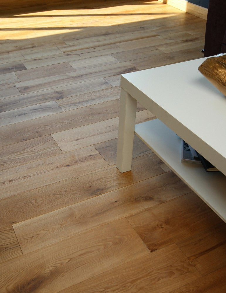 [Echantillon] Parquet chene naturel clipsable - 18 x 150 mm