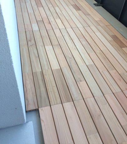 terrasse bois balcon