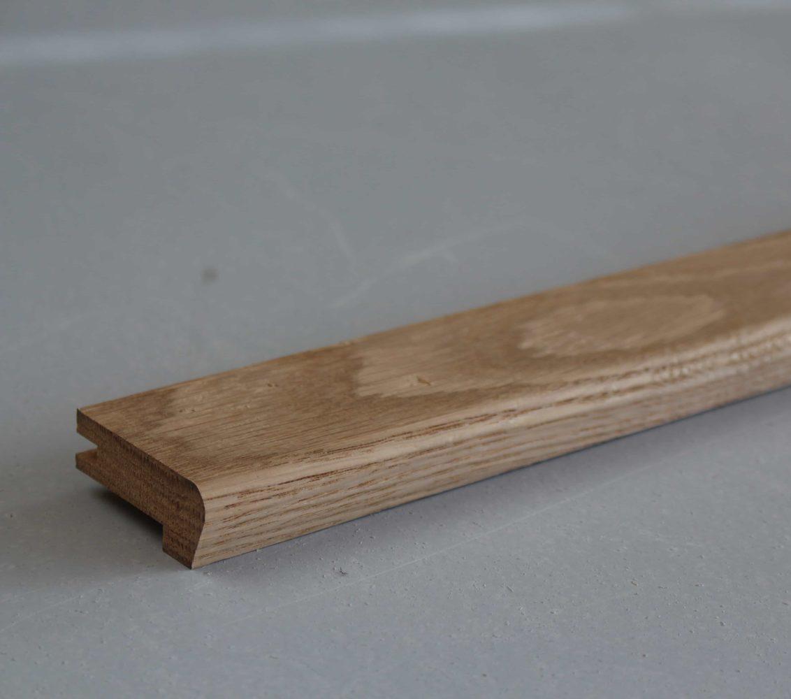 Barre De Seuil Parquet nez de marche en chêne massif - pour parquets de 14/15 mm d